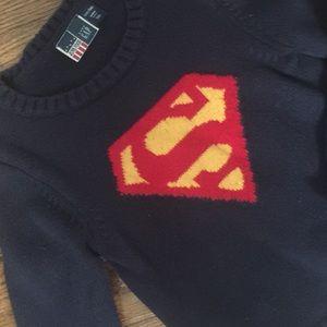 Babygap Superman sweater .
